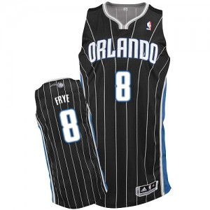 Maillot NBA Noir Channing Frye #8 Orlando Magic Alternate Authentic Homme Adidas