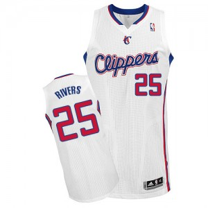 Maillot NBA Authentic Austin Rivers #25 Los Angeles Clippers Home Blanc - Homme