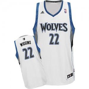 Minnesota Timberwolves Andrew Wiggins #22 Home Swingman Maillot d'équipe de NBA - Blanc pour Homme