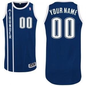 Maillot NBA Bleu marin Authentic Personnalisé Oklahoma City Thunder Alternate Homme Adidas