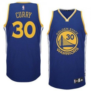 Maillot Adidas Bleu Resonate Fashion Authentic Golden State Warriors - Stephen Curry #30 - Homme