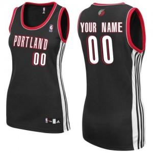 Maillot Portland Trail Blazers NBA Road Noir - Personnalisé Authentic - Femme