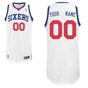 Philadelphia 76ers Personnalisé Adidas Home Blanc Maillot d'équipe de NBA en soldes - Authentic pour Homme