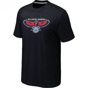 Atlanta Hawks Big & Tall Tee-Shirt d'équipe de NBA - Noir pour Homme