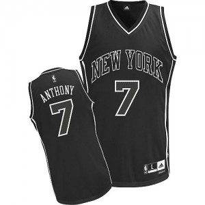 Maillot Authentic New York Knicks NBA Shadow Noir - #7 Carmelo Anthony - Homme