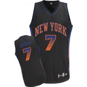 New York Knicks #7 Adidas Vibe Noir Swingman Maillot d'équipe de NBA la vente - Carmelo Anthony pour Homme