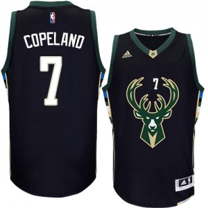 Maillot Authentic Milwaukee Bucks NBA Alternate Noir - #7 Chris Copeland - Homme