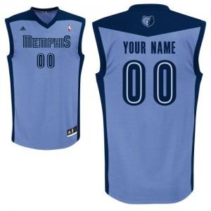 Maillot NBA Bleu clair Swingman Personnalisé Memphis Grizzlies Alternate Enfants Adidas