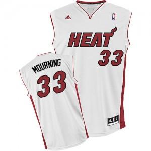 Miami Heat Alonzo Mourning #33 Home Swingman Maillot d'équipe de NBA - Blanc pour Homme