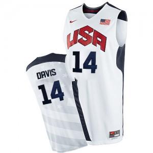 Team USA Nike Anthony Davis #14 2012 Olympics Authentic Maillot d'équipe de NBA - Blanc pour Homme