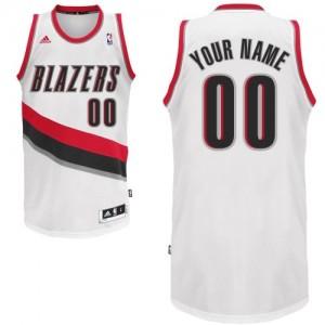 Portland Trail Blazers Personnalisé Adidas Home Blanc Maillot d'équipe de NBA Vente pas cher - Swingman pour Homme