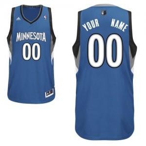 Maillot NBA Swingman Personnalisé Minnesota Timberwolves Road Slate Blue - Homme
