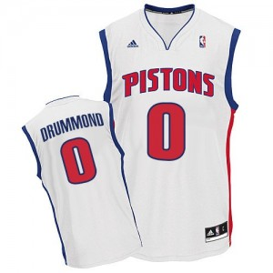 Detroit Pistons #0 Adidas Home Blanc Swingman Maillot d'équipe de NBA Peu co?teux - Andre Drummond pour Homme