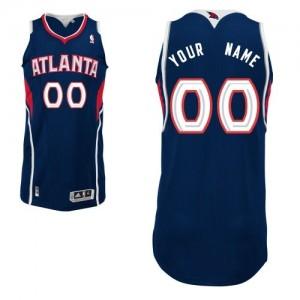 Atlanta Hawks Personnalisé Adidas Road Bleu marin Maillot d'équipe de NBA Discount - Authentic pour Enfants