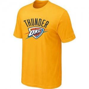 Oklahoma City Thunder Big & Tall Tee-Shirt d'équipe de NBA - Jaune pour Homme
