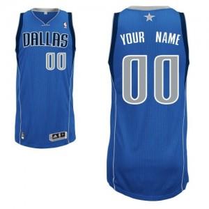 Maillot NBA Bleu royal Authentic Personnalisé Dallas Mavericks Road Enfants Adidas