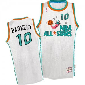 Maillot Mitchell and Ness Blanc Throwback 1996 All Star Authentic Phoenix Suns - Charles Barkley #10 - Homme