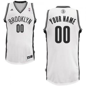 Brooklyn Nets Swingman Personnalisé Home Maillot d'équipe de NBA - Blanc pour Enfants