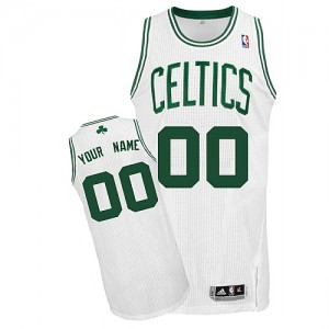Maillot NBA Authentic Personnalisé Boston Celtics Home Blanc - Homme