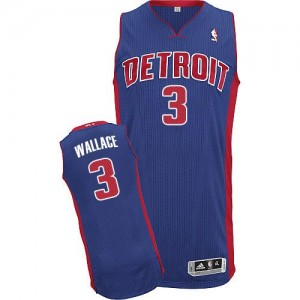 Maillot Authentic Detroit Pistons NBA Road Bleu royal - #3 Ben Wallace - Homme