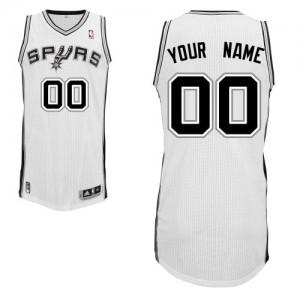 Maillot Adidas Blanc Home San Antonio Spurs - Authentic Personnalisé - Homme