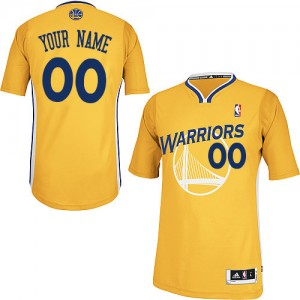 Maillot Golden State Warriors NBA Alternate Or - Personnalisé Authentic - Homme