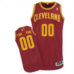 Maillot NBA Vin Rouge Authentic Personnalisé Cleveland Cavaliers Road Enfants Adidas