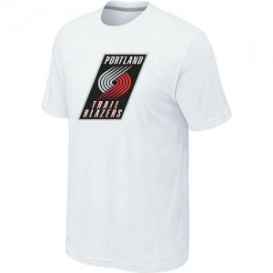 T-shirt principal de logo Portland Trail Blazers NBA Big & Tall Blanc - Homme