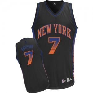 Maillot Authentic New York Knicks NBA Vibe Noir - #7 Carmelo Anthony - Homme