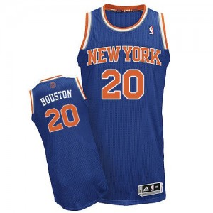 Maillot Adidas Bleu royal Road Authentic New York Knicks - Allan Houston #20 - Homme