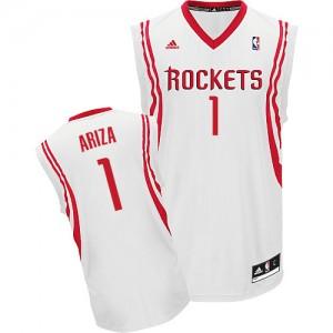 Maillot Adidas Blanc Home Swingman Houston Rockets - Trevor Ariza #1 - Homme