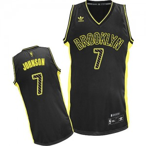 Maillot NBA Noir Joe Johnson #7 Brooklyn Nets Electricity Fashion Swingman Homme Adidas