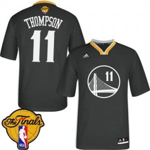 Maillot NBA Swingman Klay Thompson #11 Golden State Warriors Alternate 2015 The Finals Patch Noir - Femme