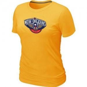 New Orleans Pelicans Big & Tall Jaune Tee-Shirt d'équipe de NBA en vente en ligne - pour Femme