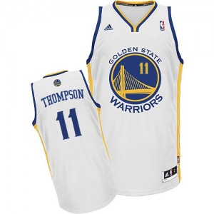 Maillot NBA Blanc Klay Thompson #11 Golden State Warriors Home Swingman Homme Adidas