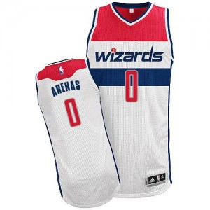 Maillot NBA Authentic Gilbert Arenas #0 Washington Wizards Home Blanc - Homme