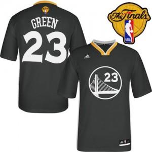 Maillot NBA Authentic Draymond Green #23 Golden State Warriors Alternate 2015 The Finals Patch Noir - Homme