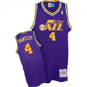 Maillot Authentic Utah Jazz NBA Throwback Violet - #4 Adrian Dantley - Homme