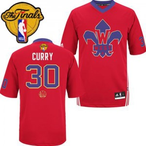 Maillot Swingman Golden State Warriors NBA 2014 All Star 2015 The Finals Patch Rouge - #30 Stephen Curry - Homme