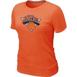 New York Knicks Big & Tall Tee-Shirt d'équipe de NBA - Orange pour Femme