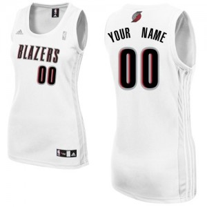 Maillot Portland Trail Blazers NBA Home Blanc - Personnalisé Swingman - Femme