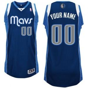 Maillot NBA Authentic Personnalisé Dallas Mavericks Alternate Bleu marin - Enfants