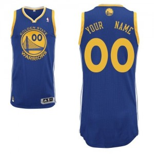 Maillot Adidas Bleu royal Road Golden State Warriors - Authentic Personnalisé - Homme
