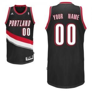 Portland Trail Blazers Swingman Personnalisé Road Maillot d'équipe de NBA - Noir pour Enfants