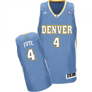 Maillot NBA Bleu clair Randy Foye #4 Denver Nuggets Road Swingman Homme Adidas