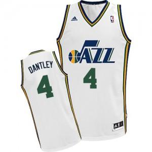 Maillot Adidas Blanc Home Swingman Utah Jazz - Adrian Dantley #4 - Homme